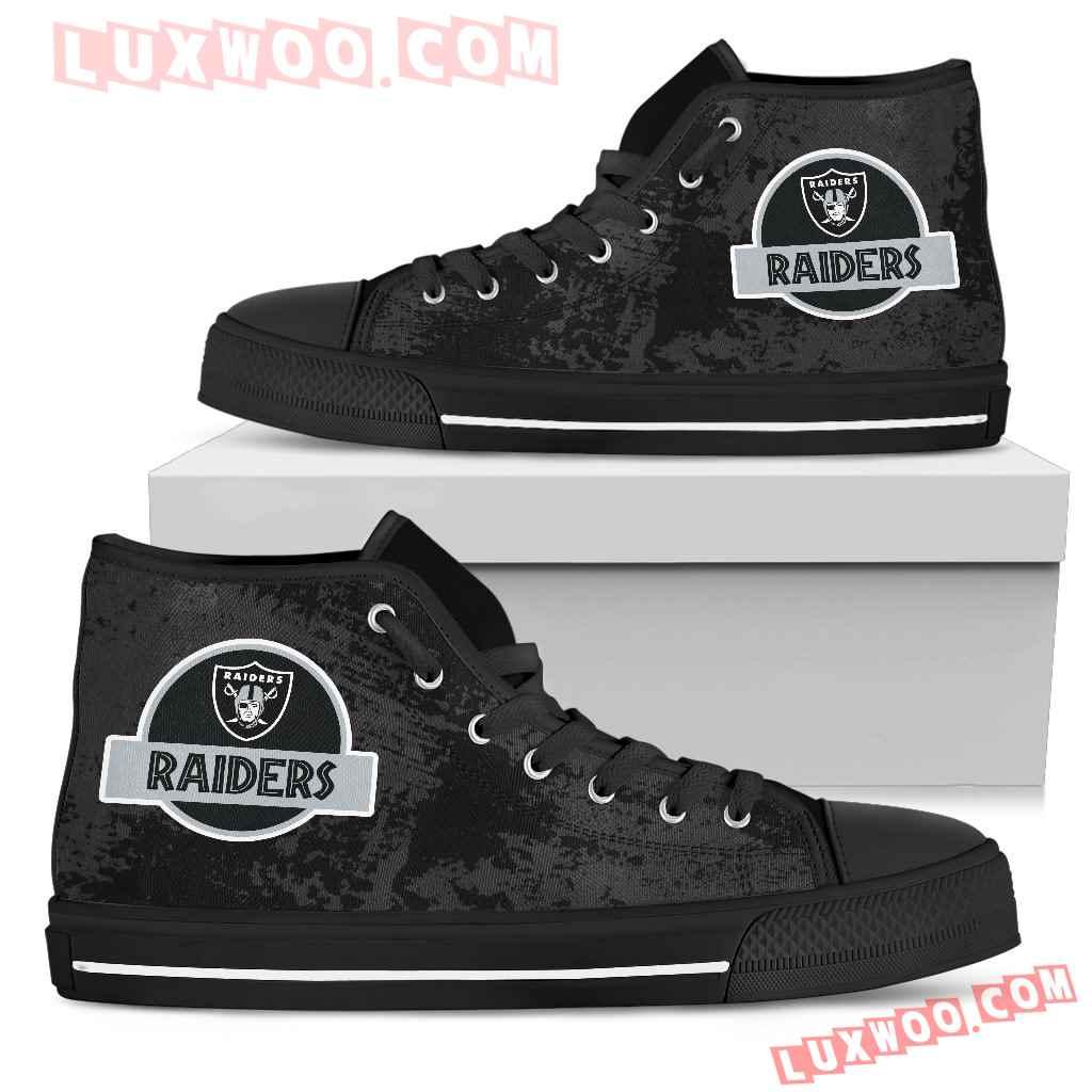 Jurassic Park Oakland Raiders High Top Shoes