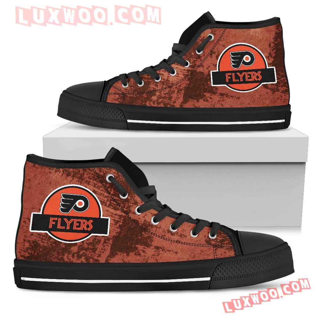 Jurassic Park Philadelphia Flyers High Top Shoes
