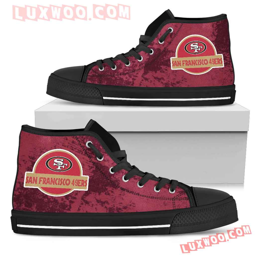 Jurassic Park San Francisco 49ers High Top Shoes