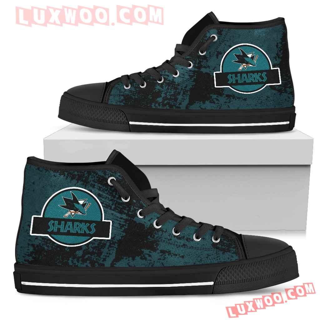 Jurassic Park San Jose Sharks High Top Shoes