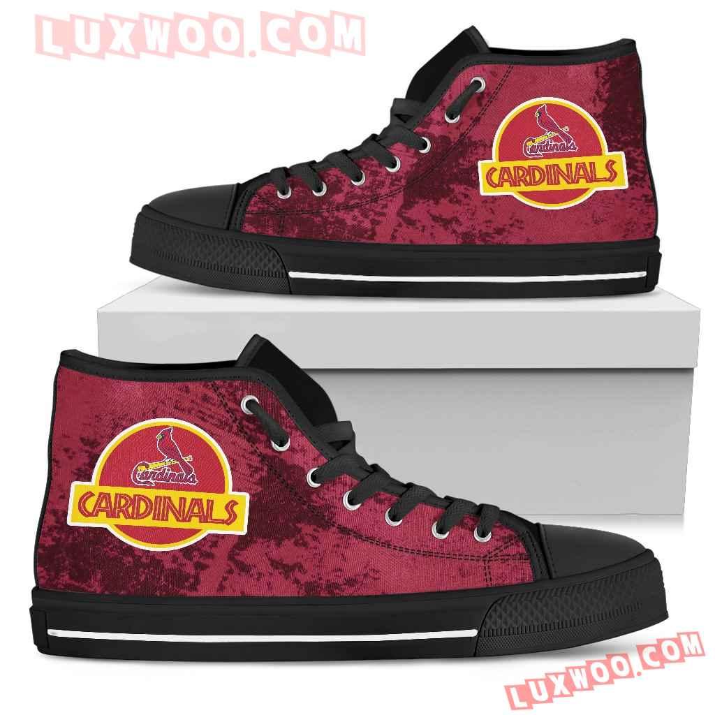 Jurassic Park St Louis Cardinals High Top Shoes