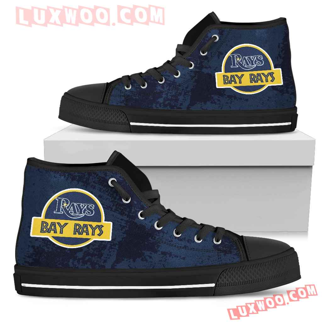 Jurassic Park Tampa Bay Rays High Top Shoes
