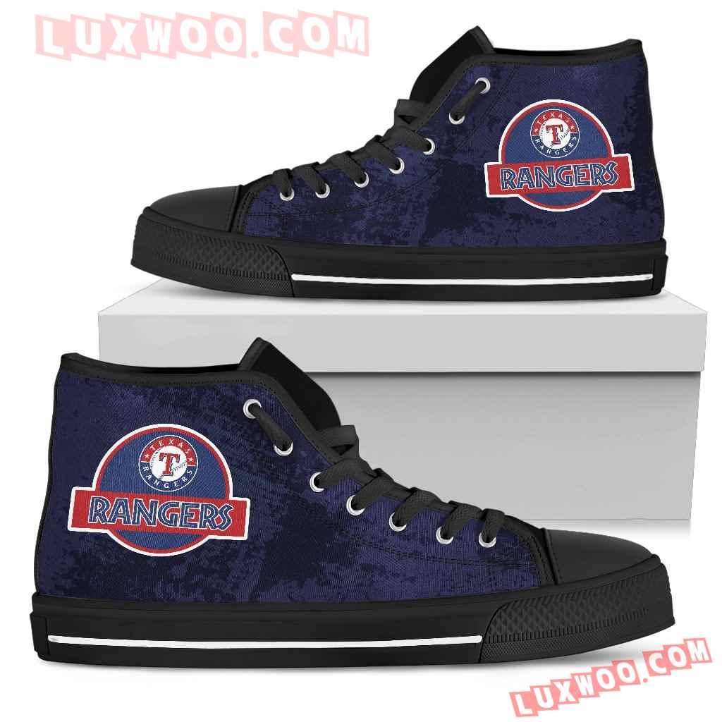 Jurassic Park Texas Rangers High Top Shoes