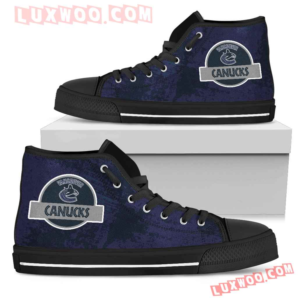 Jurassic Park Vancouver Canucks High Top Shoes