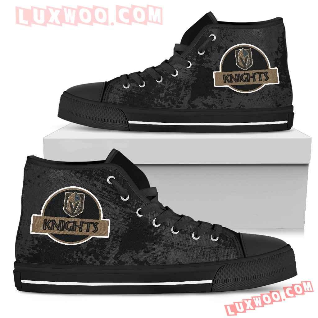 Jurassic Park Vegas Golden Knights High Top Shoes