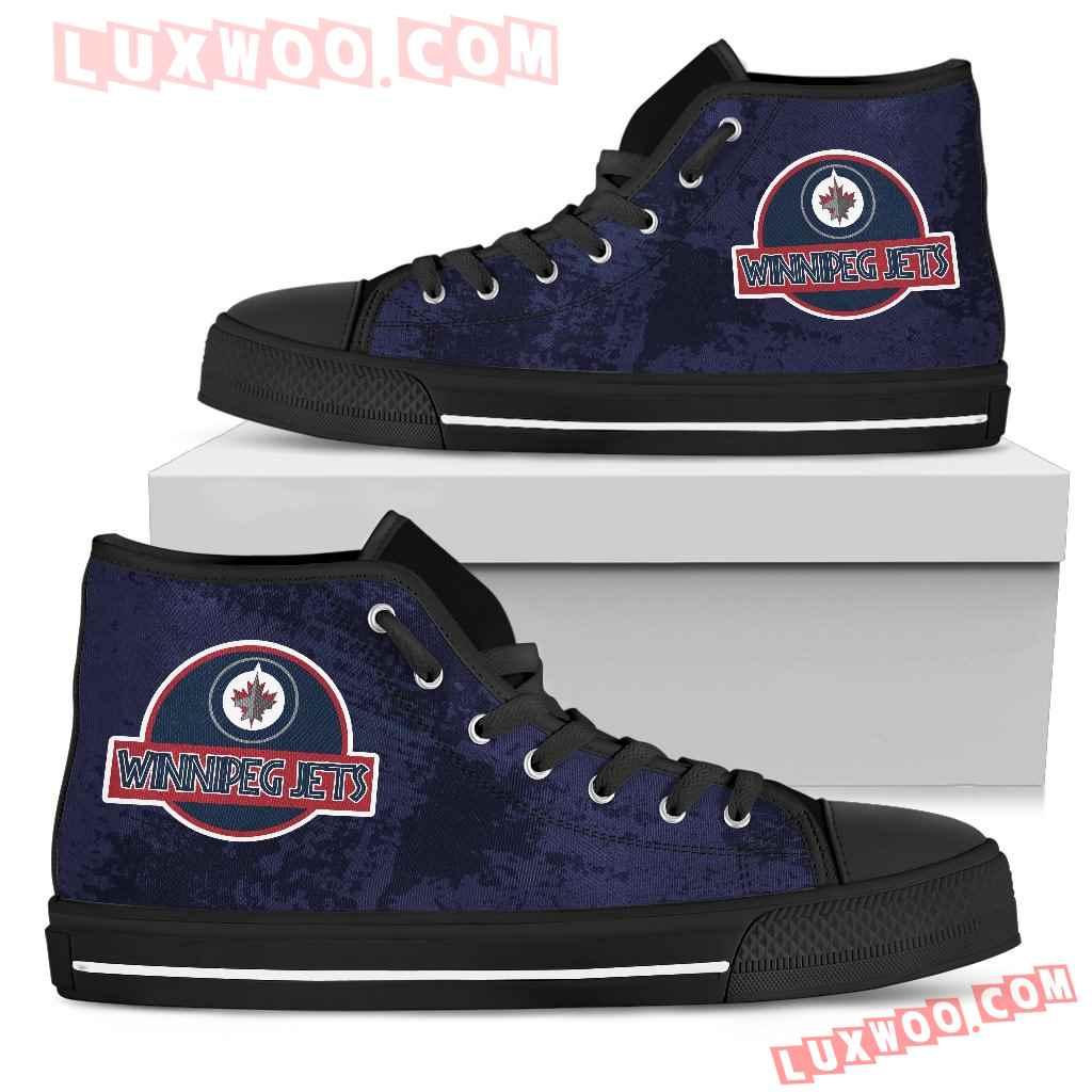 Jurassic Park Winnipeg Jets High Top Shoes