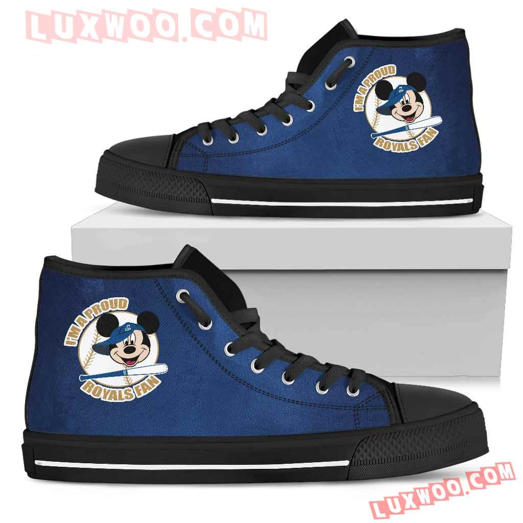 Kansas City Royals Fan Mickey Circle High Top Shoes