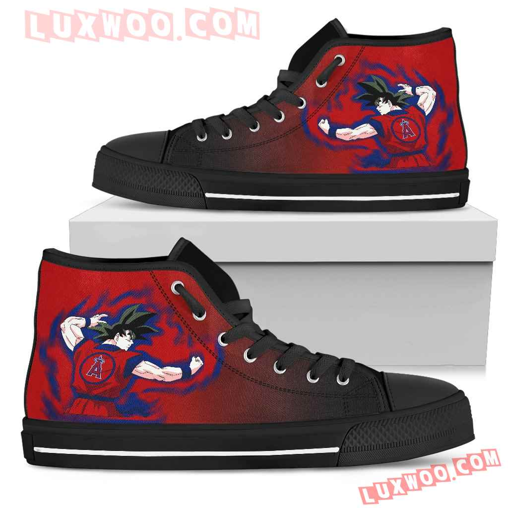 Los Angeles Angels Goku Saiyan Power High Top Shoes