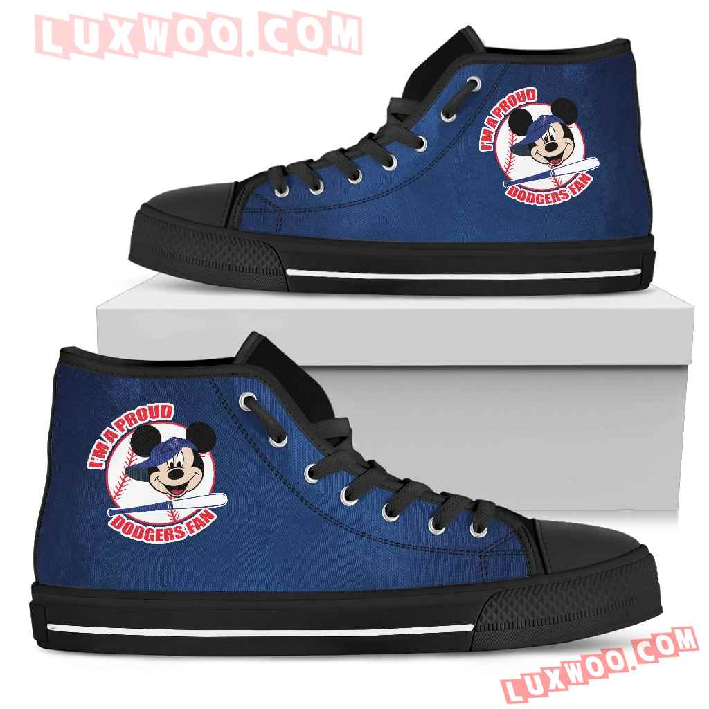 Los Angeles Dodgers Fan Mickey Circle High Top Shoes