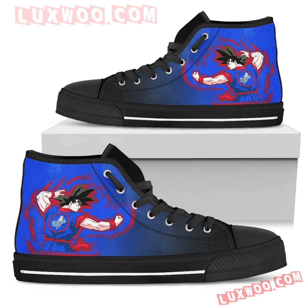 Los Angeles Dodgers Goku Saiyan Power High Top Shoes