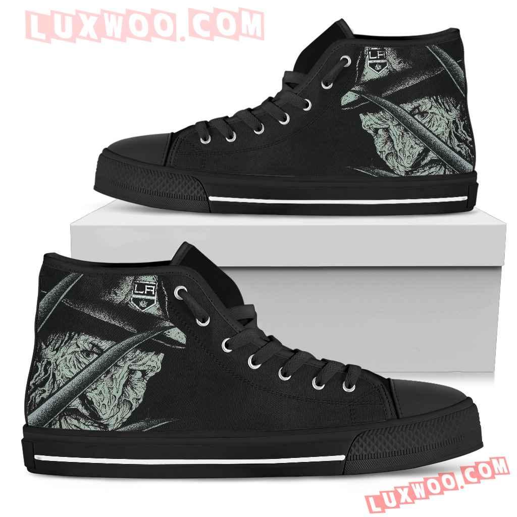 Los Angeles Kings Nightmare Freddy Colorful High Top Shoes