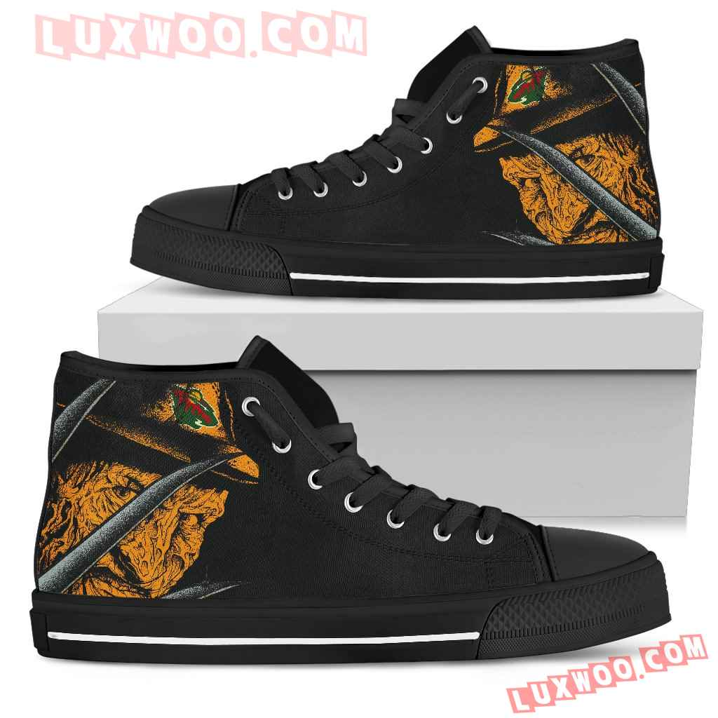 Minnesota Wild Nightmare Freddy Colorful High Top Shoes