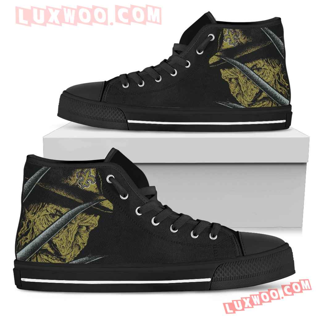 New Orleans Saints Nightmare Freddy Colorful High Top Shoes