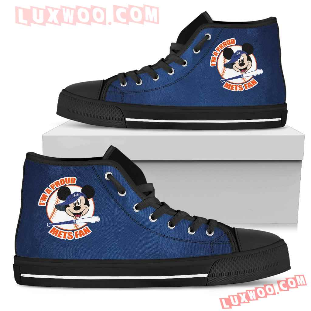New York Mets Fan Mickey Circle High Top Shoes