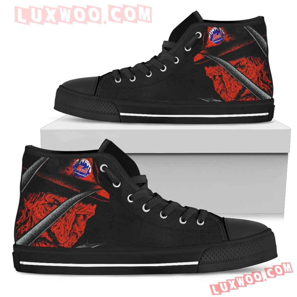 New York Mets Nightmare Freddy Colorful High Top Shoes