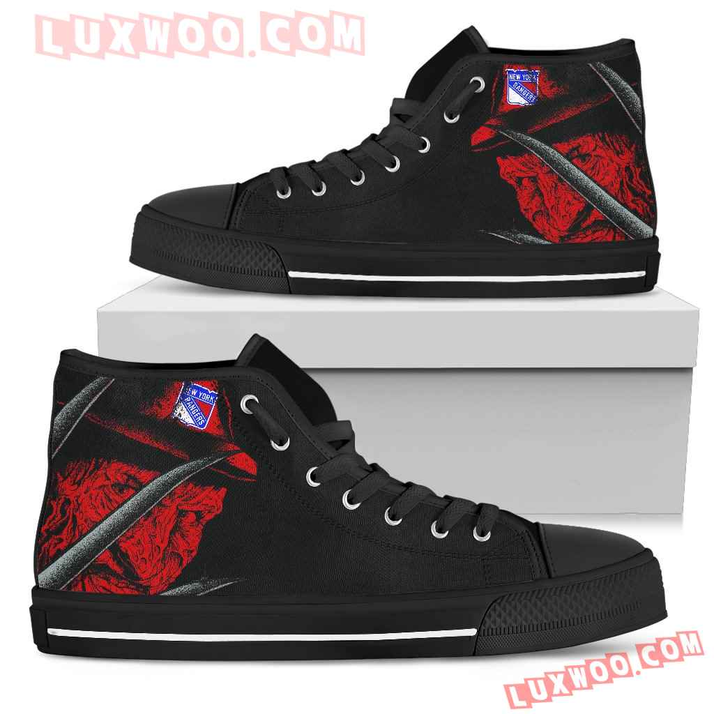 New York Rangers Nightmare Freddy Colorful High Top Shoes