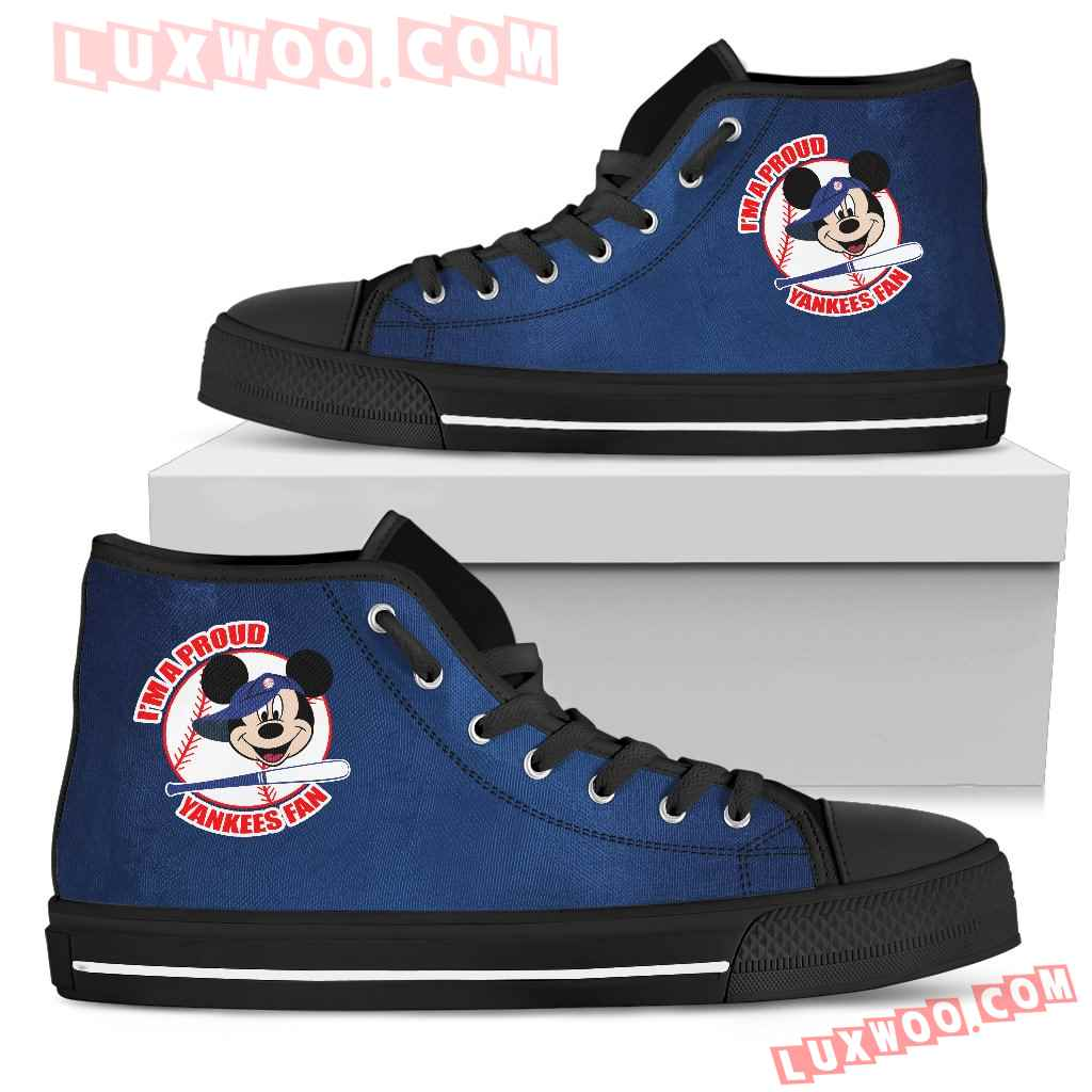 New York Yankees Fan Mickey Circle High Top Shoes
