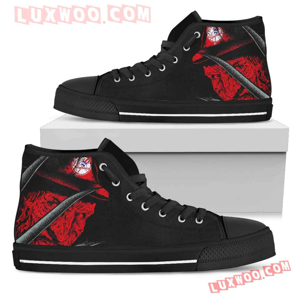 New York Yankees Nightmare Freddy Colorful High Top Shoes