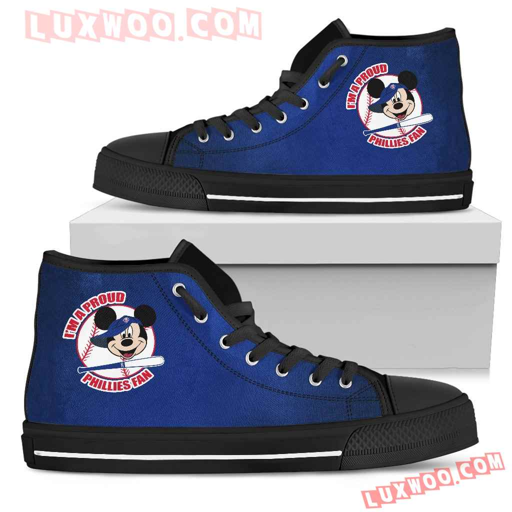 Philadelphia Phillies Fan Mickey Circle High Top Shoes