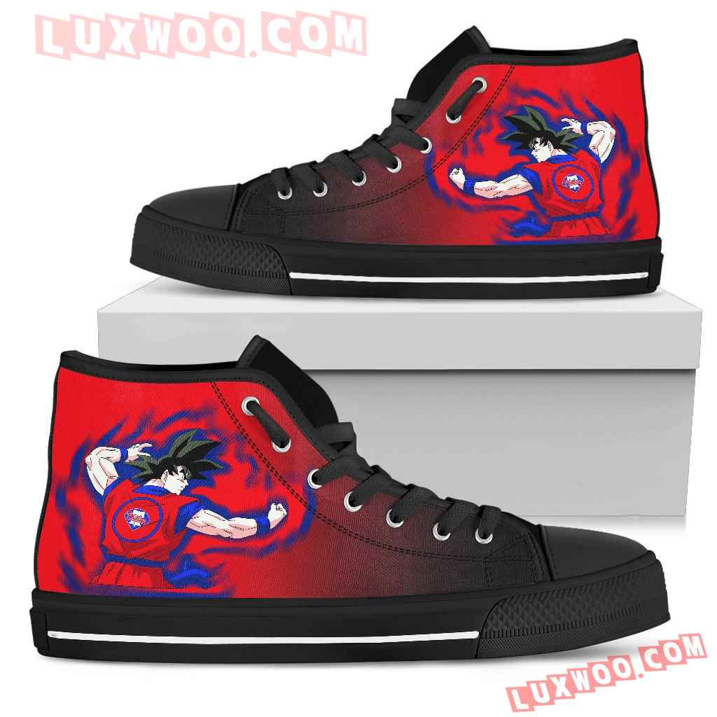 Philadelphia Phillies Goku Saiyan Power High Top Shoes