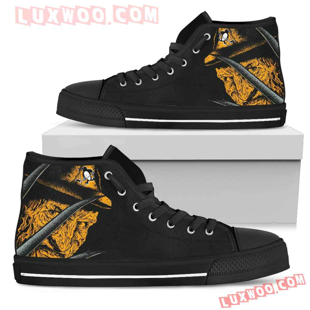Pittsburgh Penguins Nightmare Freddy Colorful High Top Shoes
