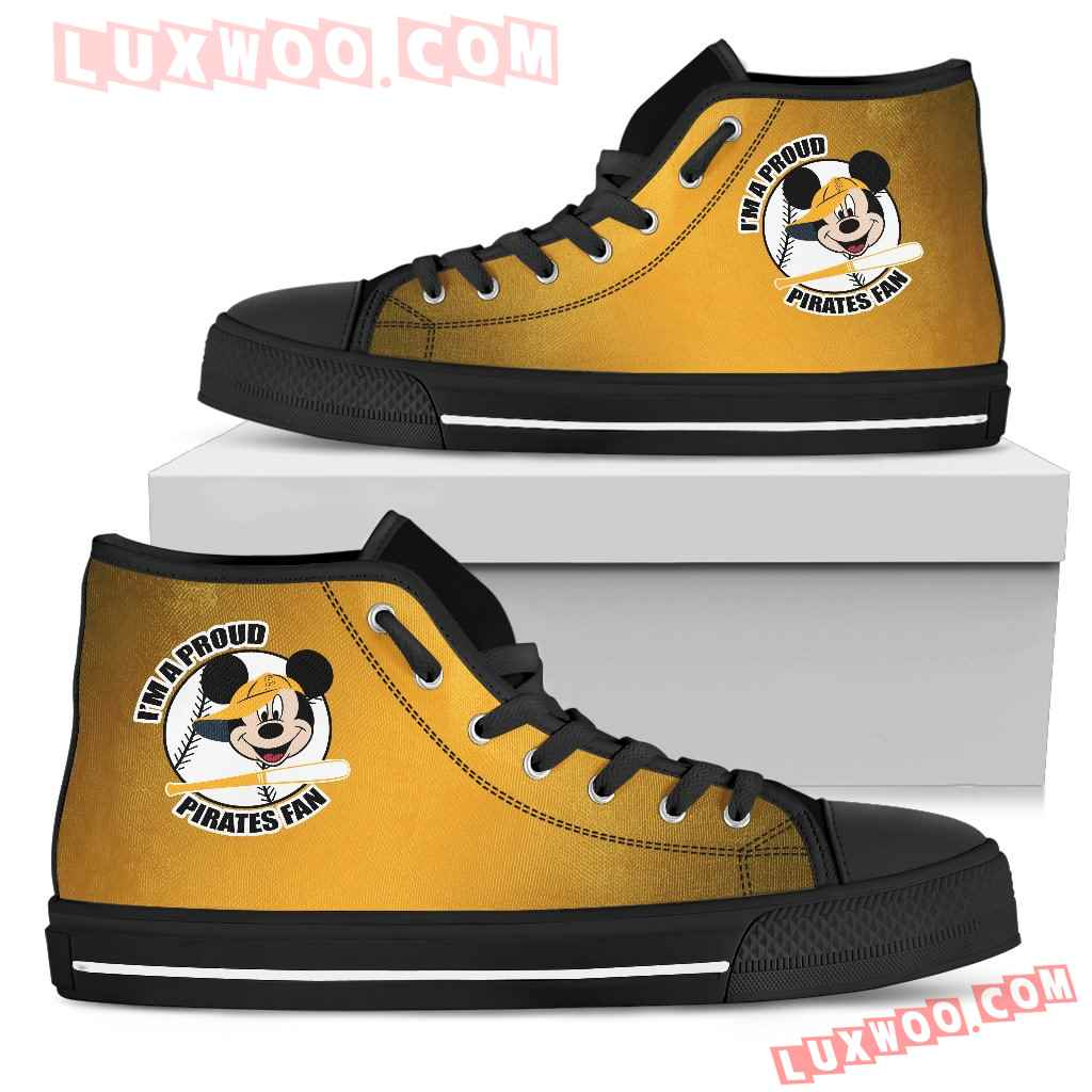 Pittsburgh Pirates Fan Mickey Circle High Top Shoes
