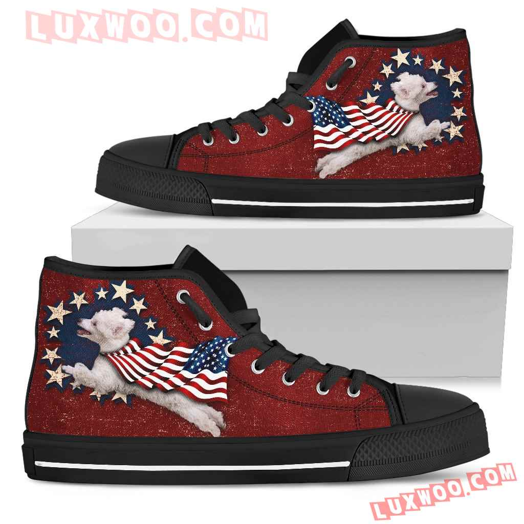 Poodle - Independence Day High Top Shoes