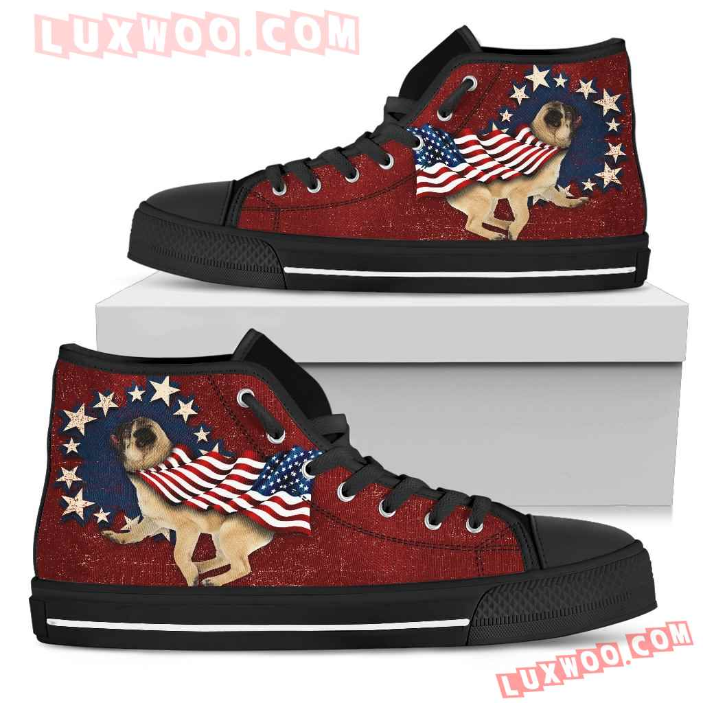 Pug - Independence Day High Top Shoes