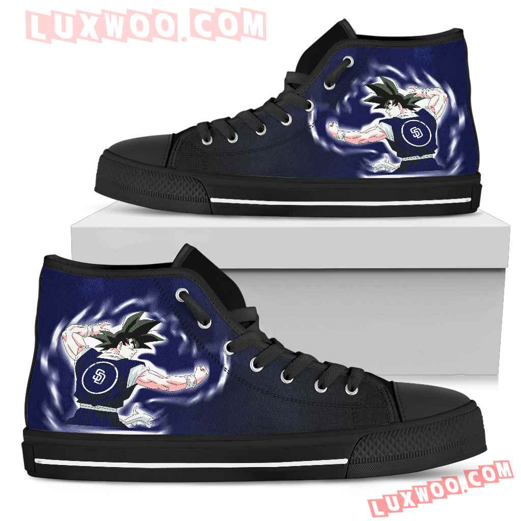 San Diego Padres Goku Saiyan Power High Top Shoes