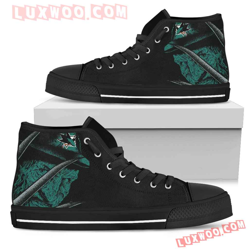 San Jose Sharks Nightmare Freddy Colorful High Top Shoes
