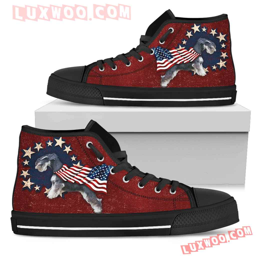 Schnauzer - Independence Day High Top Shoes