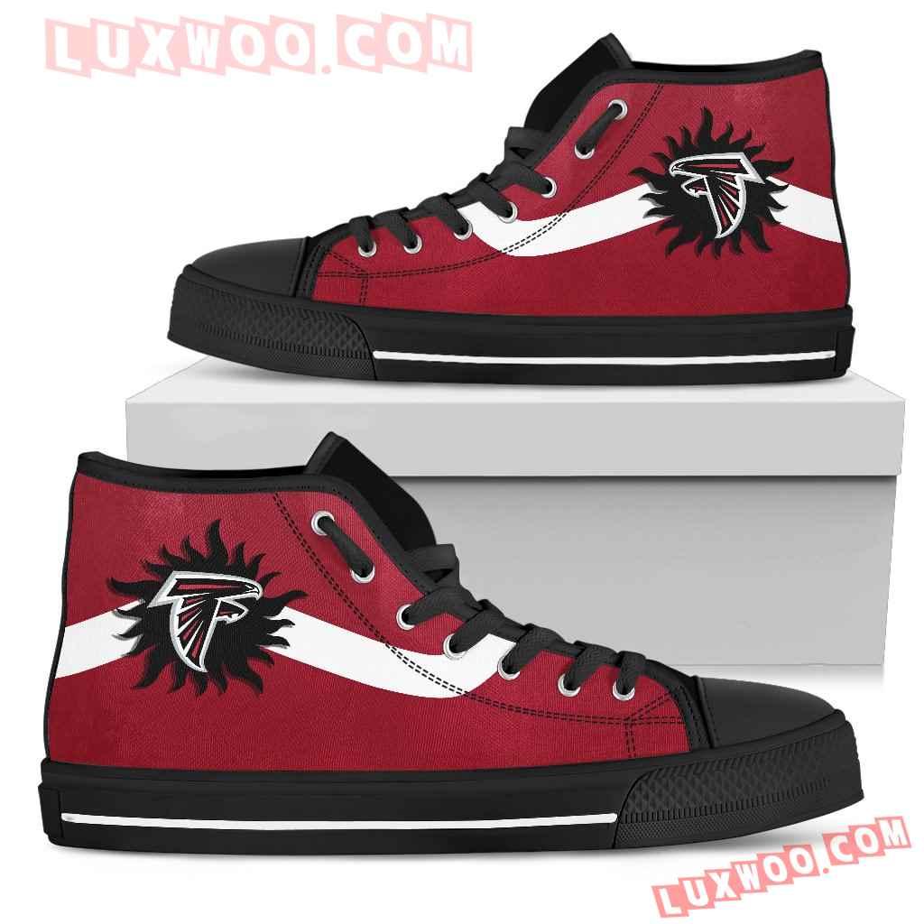Simple Van Sun Flame Atlanta Falcons High Top Shoes
