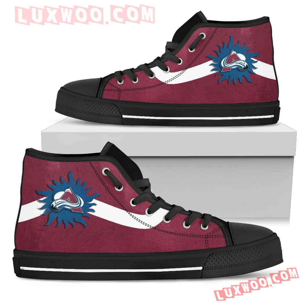 Simple Van Sun Flame Colorado Avalanche High Top Shoes