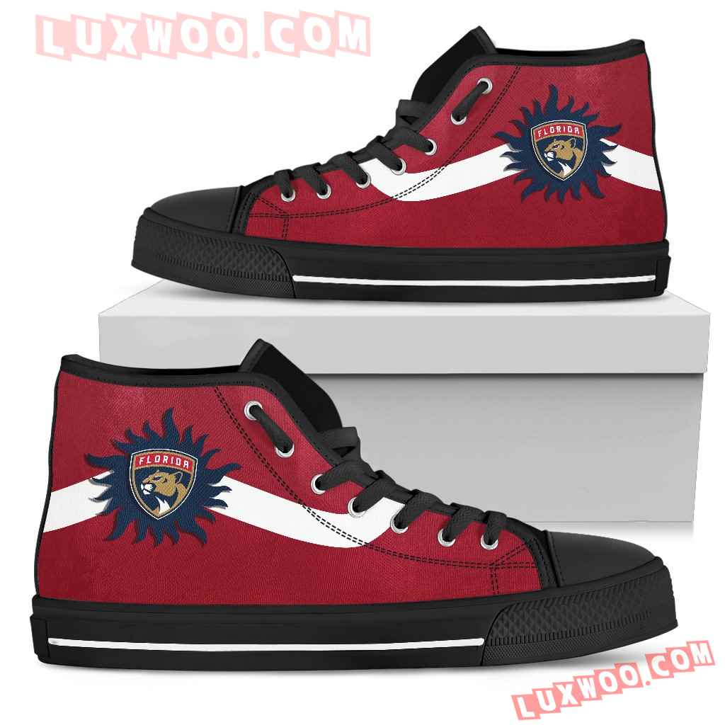 Simple Van Sun Flame Florida Panthers High Top Shoes