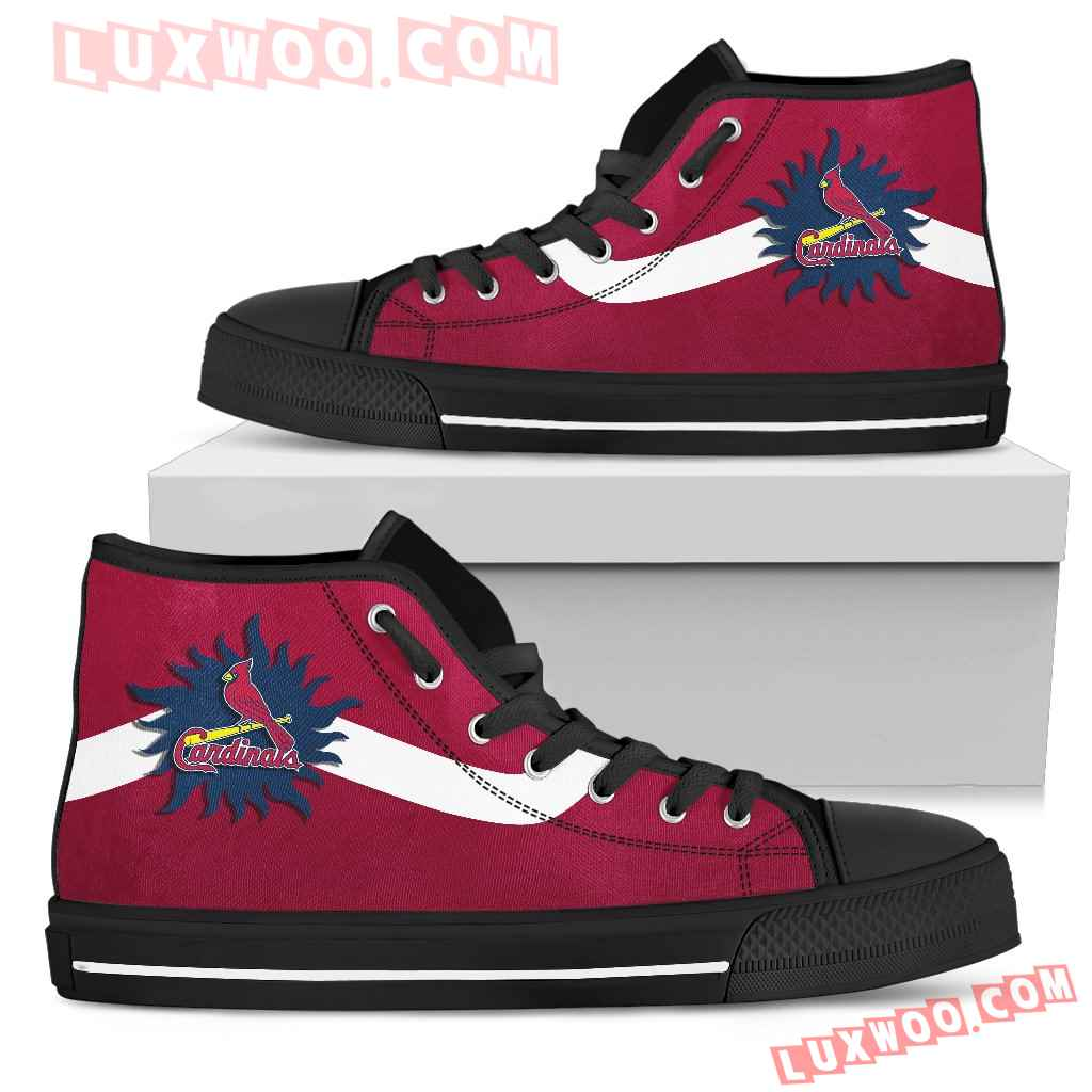 Simple Van Sun Flame St Louis Cardinals High Top Shoes