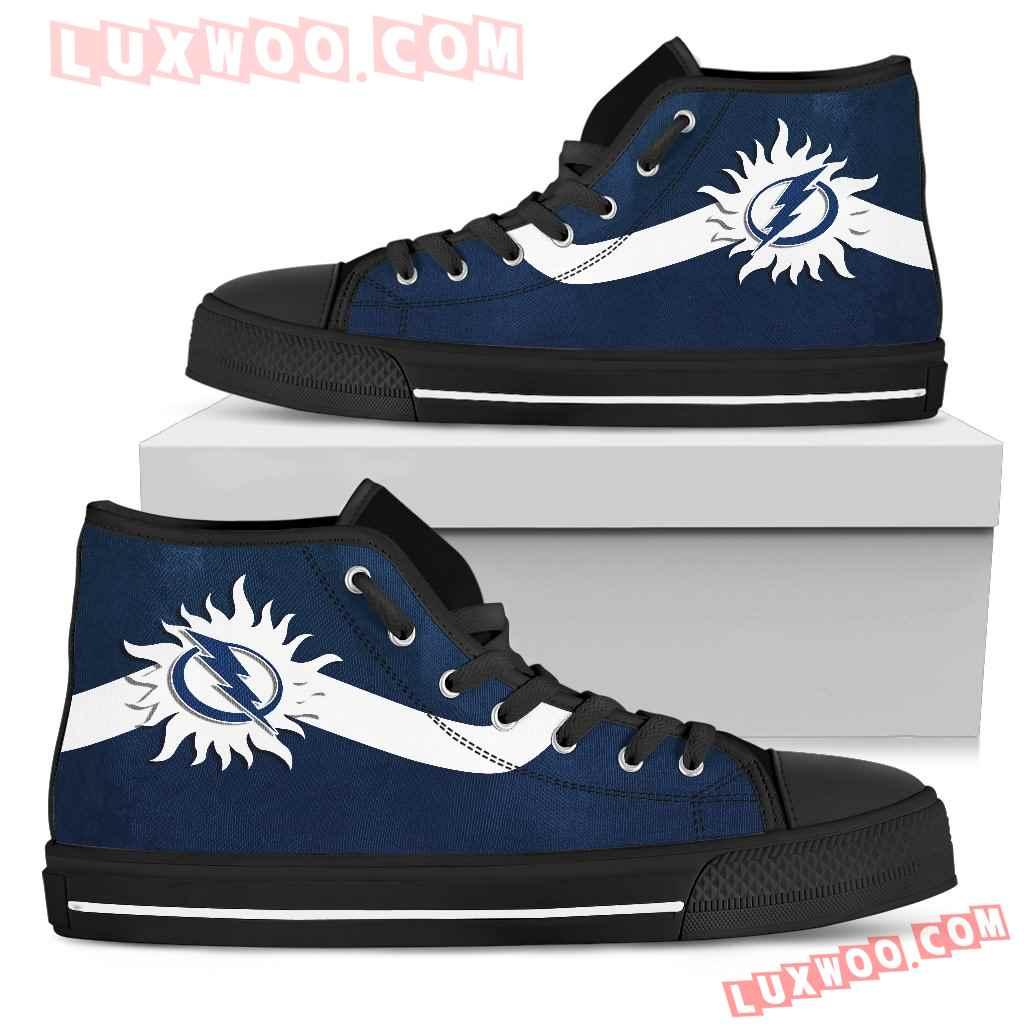 Simple Van Sun Flame Tampa Bay Lightning High Top Shoes