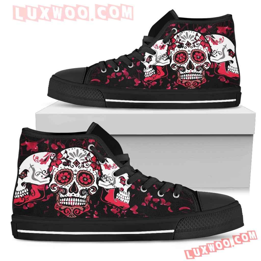 Skull Design High Top Shoes