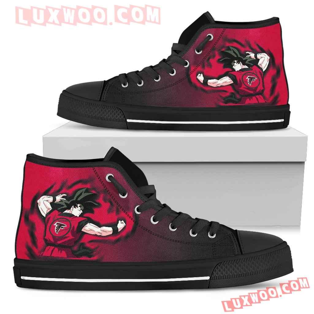 Son Goku Saiyan Power Atlanta Falcons High Top Shoes