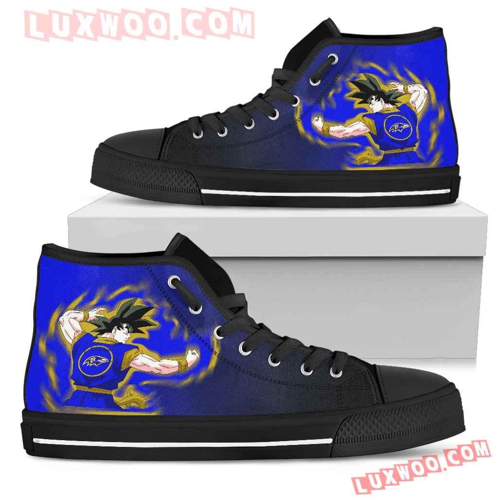 Son Goku Saiyan Power Baltimore Ravens High Top Shoes