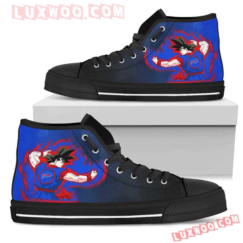 Son Goku Saiyan Power Buffalo Bills High Top Shoes