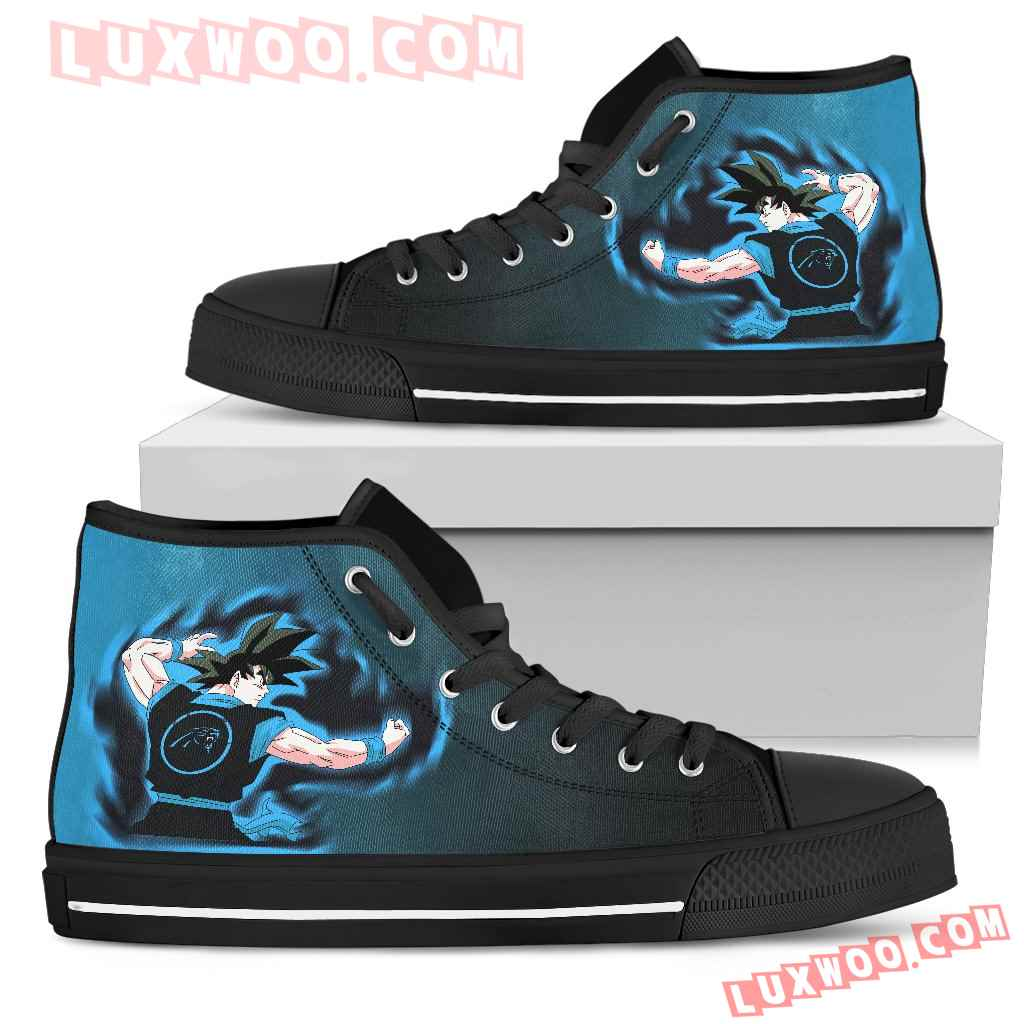 Son Goku Saiyan Power Carolina Panthers High Top Shoes