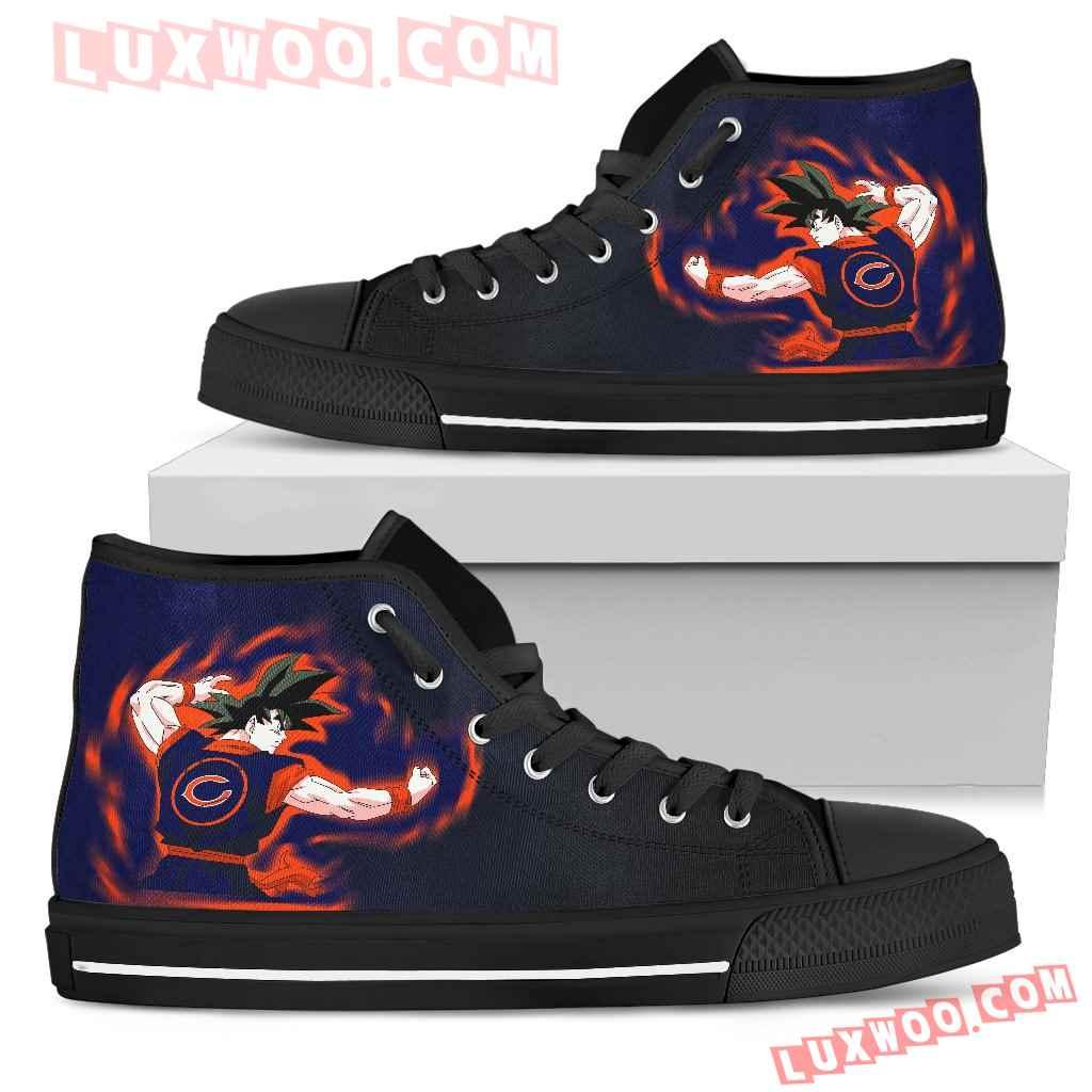 Son Goku Saiyan Power Chicago Bears High Top Shoes