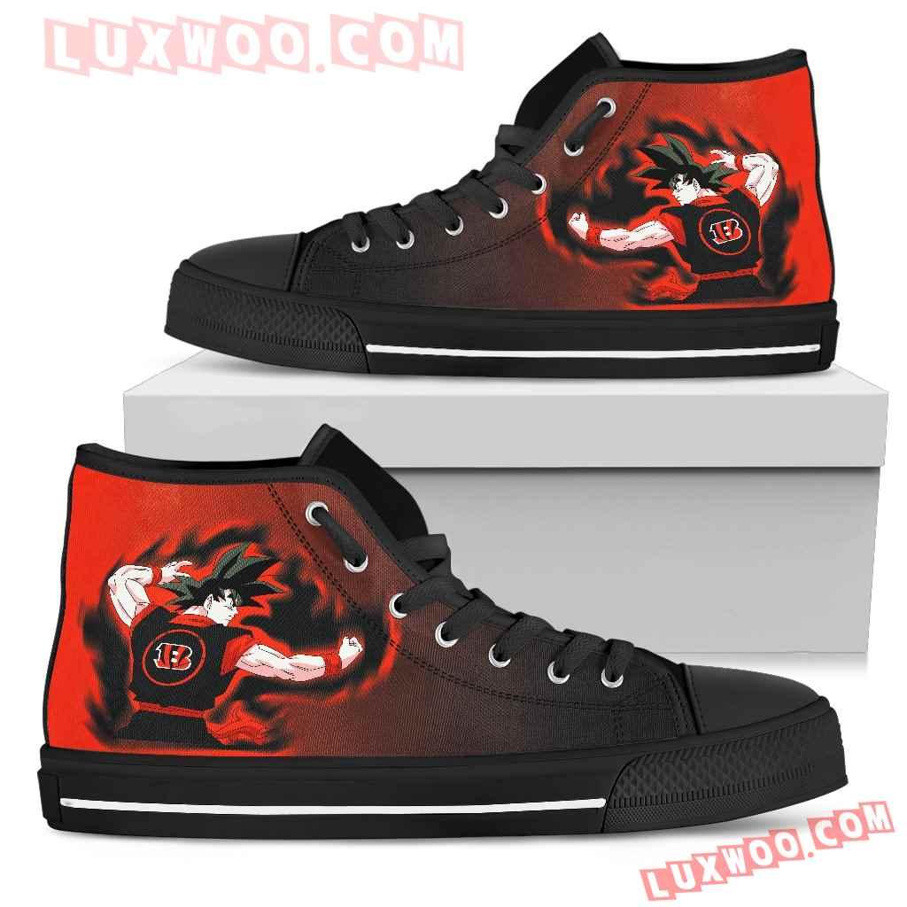 Son Goku Saiyan Power Cincinnati Bengals High Top Shoes