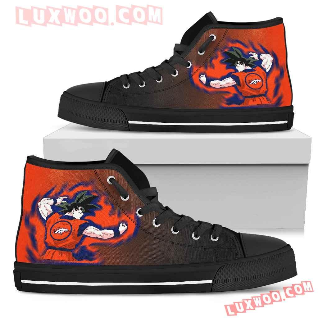 Son Goku Saiyan Power Denver Broncos High Top Shoes