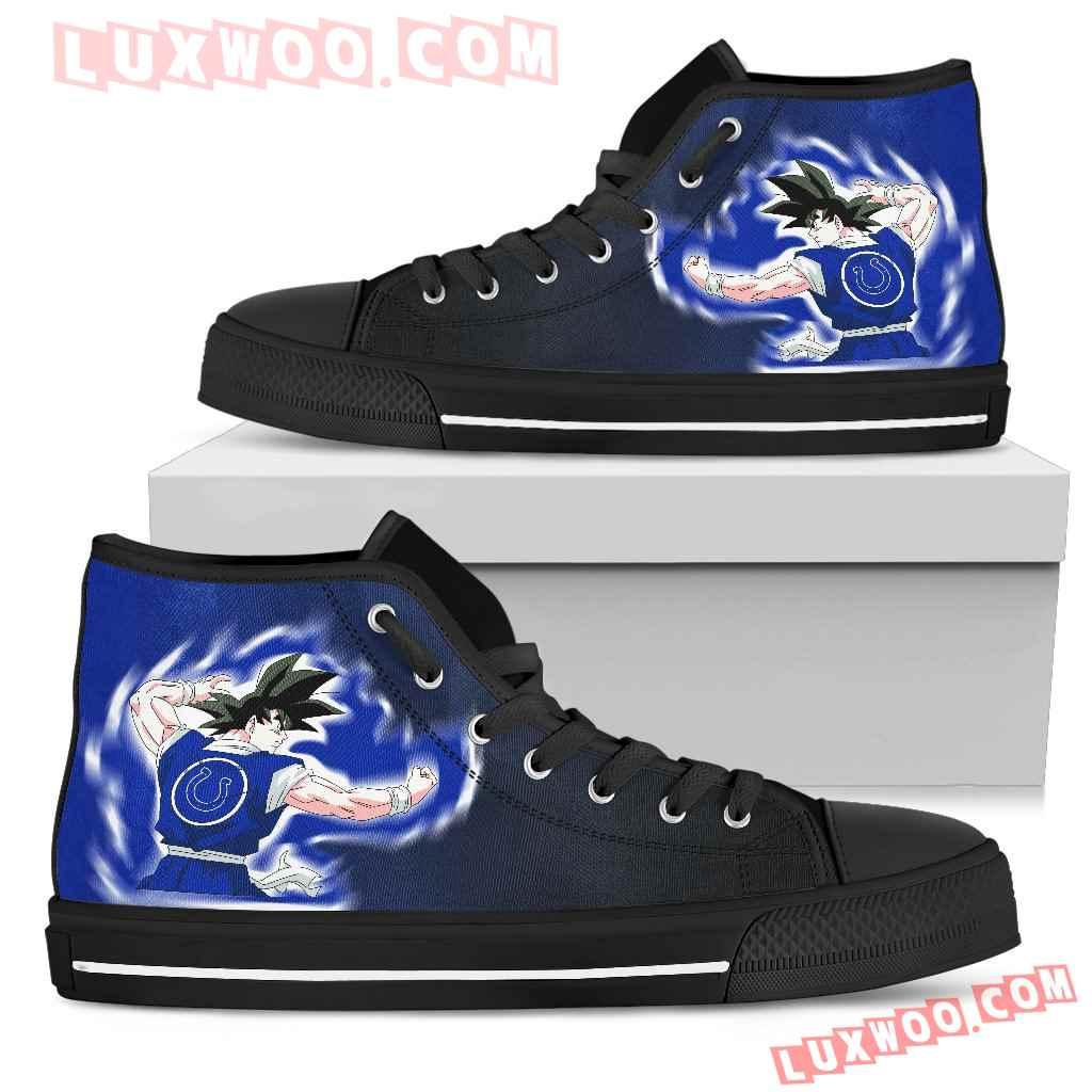 Son Goku Saiyan Power Indianapolis Colts High Top Shoes