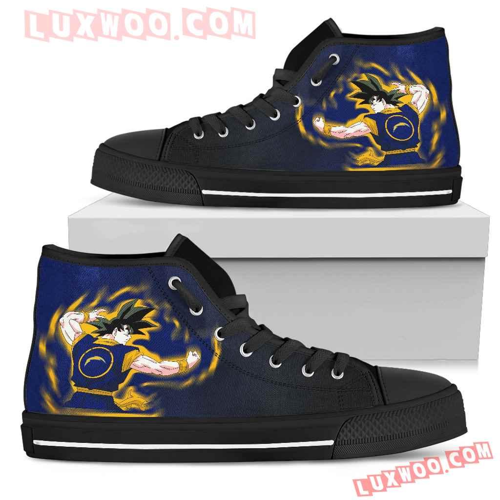 Son Goku Saiyan Power Los Angeles Chargers High Top Shoes