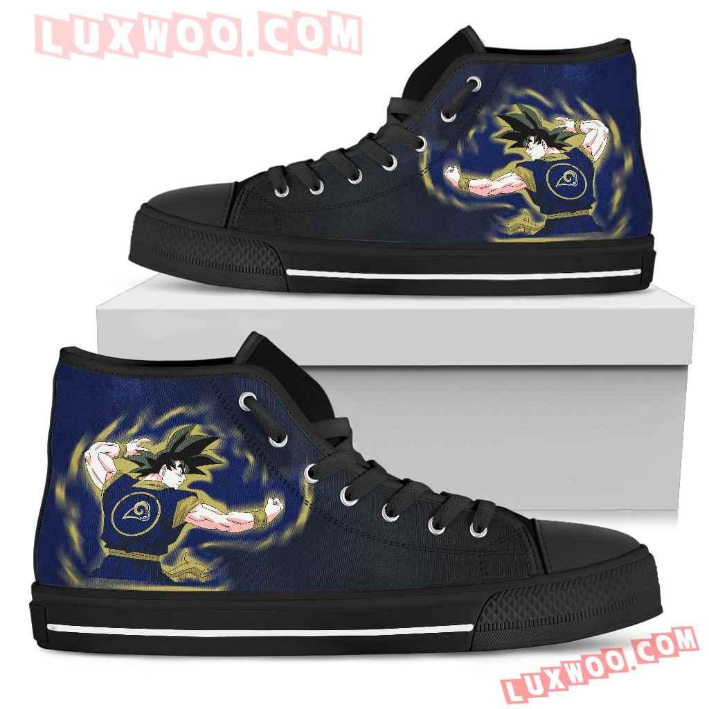 Son Goku Saiyan Power Los Angeles Rams High Top Shoes