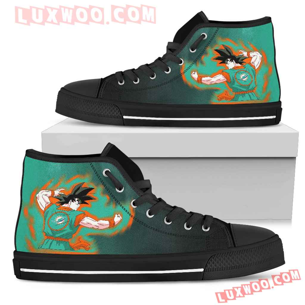 Son Goku Saiyan Power Miami Dolphins High Top Shoes