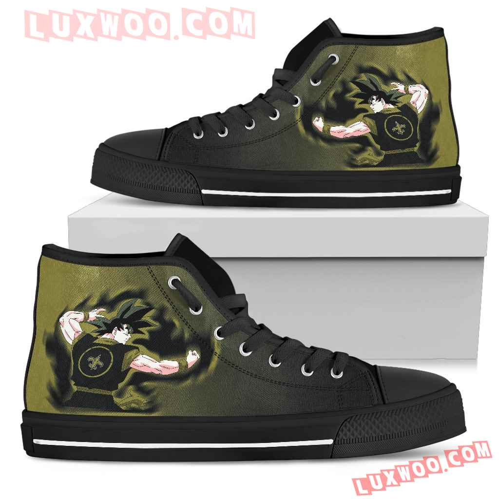 Son Goku Saiyan Power New Orleans Saints High Top Shoes
