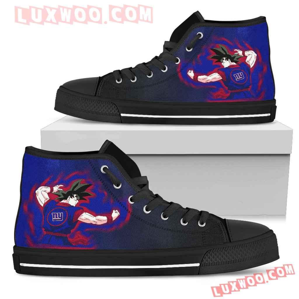 Son Goku Saiyan Power New York Giants High Top Shoes